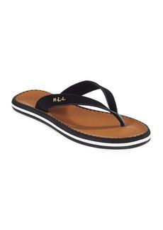 Lauren Ralph Lauren Ryanne Faux Leather Thong Sandals