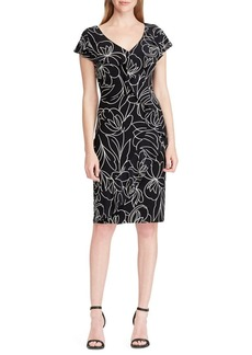 Lauren Ralph Lauren Samson Flounce Sheath Dress