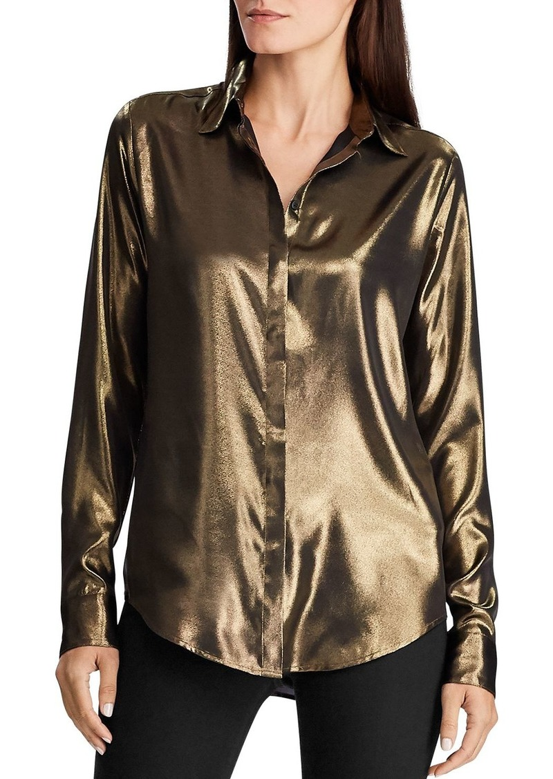 Lauren Ralph Lauren Satin Button-Down Shirt