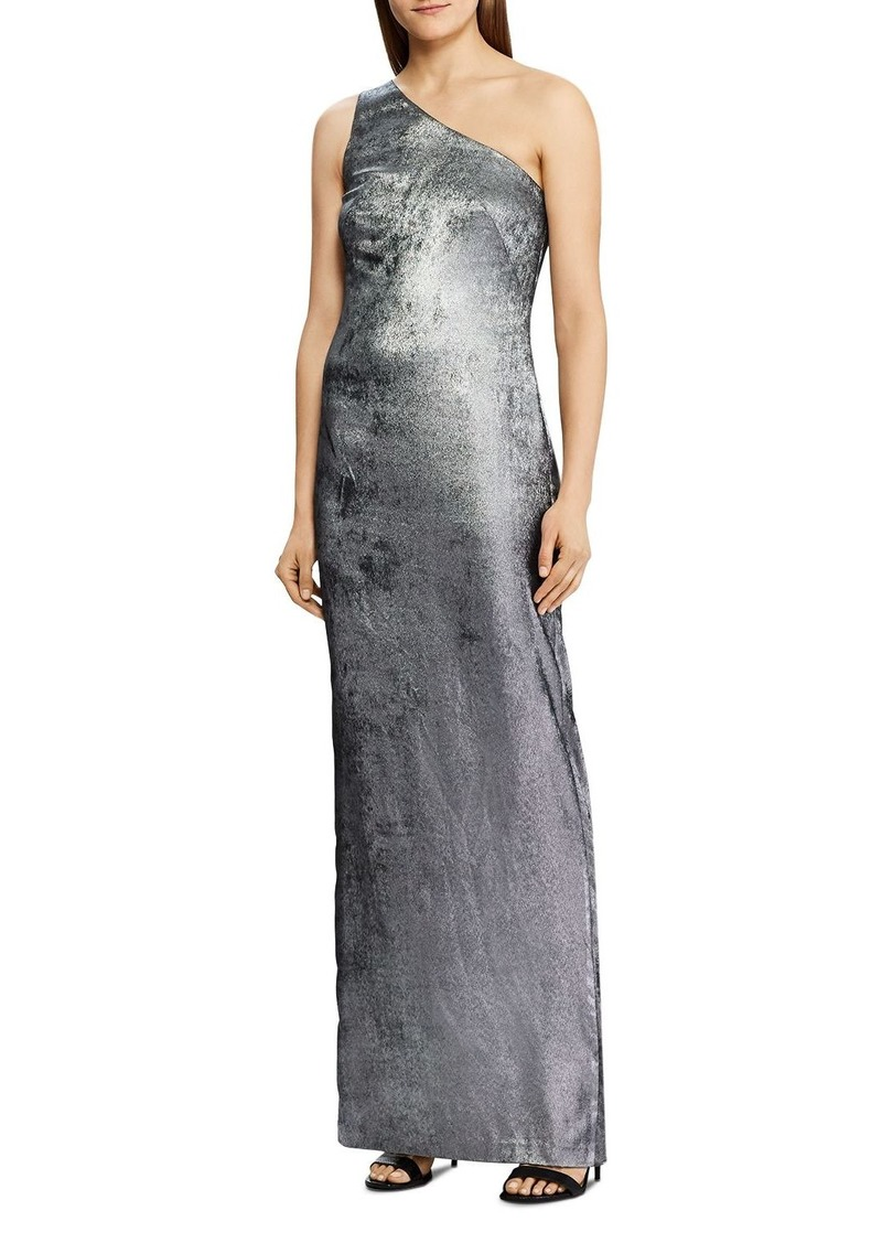 Lauren Ralph Lauren Satin One-Shoulder Gown