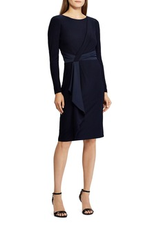 Lauren Ralph Lauren Satin-Sash Jersey Dress