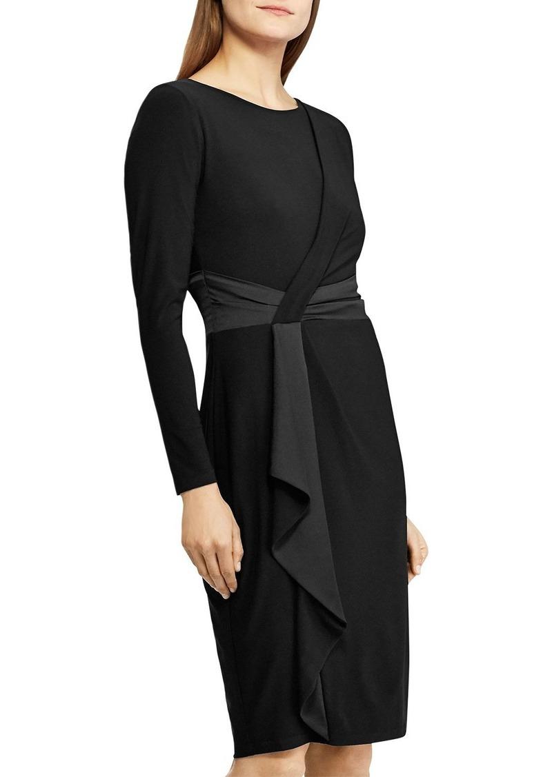 Lauren Ralph Lauren Satin-Trim Long-Sleeve Dress