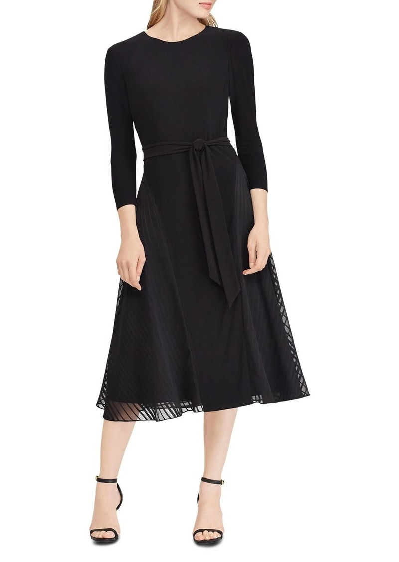 Lauren Ralph Lauren Satin-Trimmed Dress