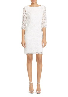 Lauren Ralph Lauren Scallop Lace Shift Dress - 100% Exclusive