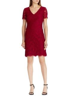 Lauren Ralph Lauren Scalloped Lace Cocktail Dress