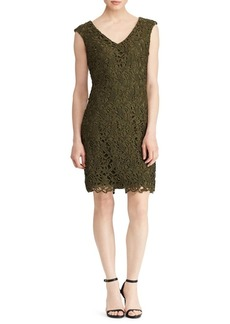 Lauren Ralph Lauren Scalloped-Lace Sheath Dress