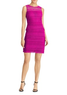 Lauren Ralph Lauren Scalloped Lace Sheath Dress