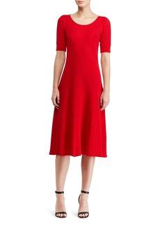Lauren Ralph Lauren Scoop Neck Waffle Knit Dress