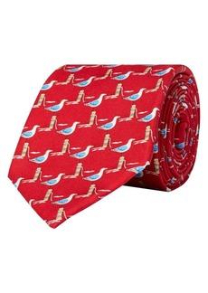 Lauren Ralph Lauren Seagull-Print Silk Tie