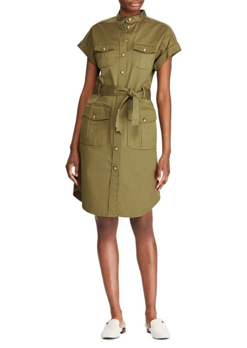 Lauren Ralph Lauren Self-Tie Stretch Shirtdress