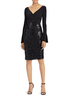 Lauren Ralph Lauren Sequin Bell-Sleeve Dress