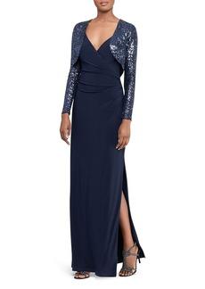 Lauren Ralph Lauren Sequin-Bolero Gown