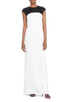 Lauren Ralph Lauren Sequin Cutout Gown