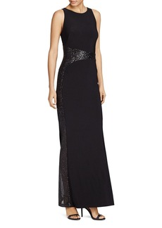 Lauren Ralph Lauren Sequin-Embellished Gown