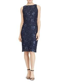 Lauren Ralph Lauren Sequin-Embellished Lace Sheath Dress