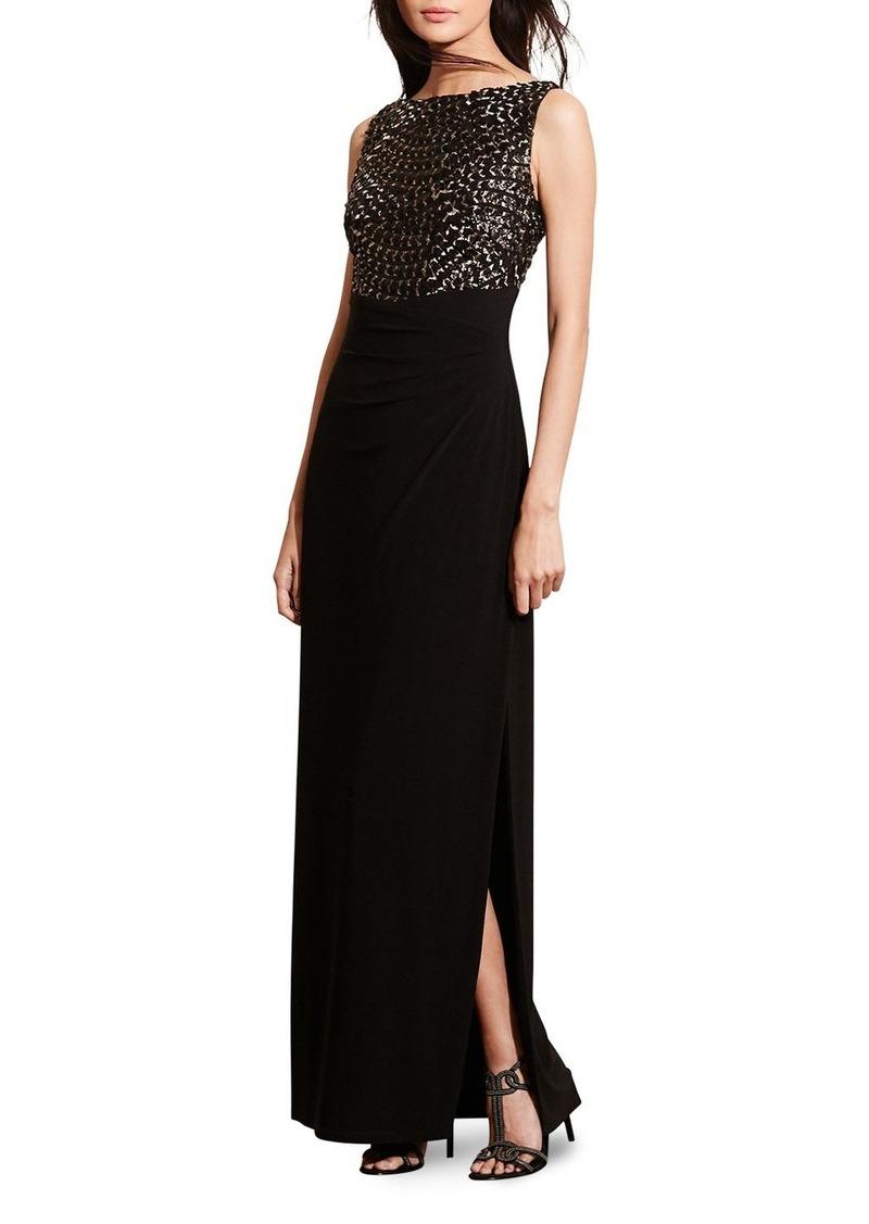 Ralph Lauren Lauren Ralph Lauren Sequin Embroidered Gown | Dresses