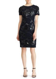 Lauren Ralph Lauren Sequin Lace Cocktail Dress