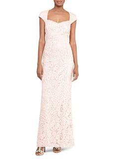 Lauren Ralph Lauren Sequin Lace Gown