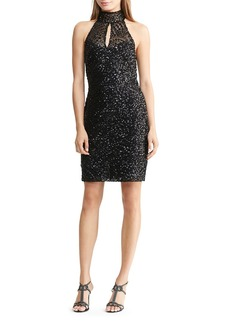 Lauren Ralph Lauren Sequin Mock-Neck Dress