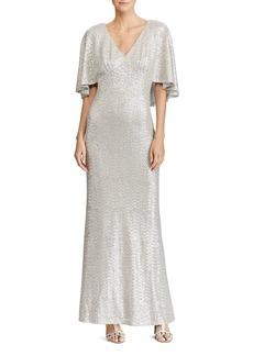 Lauren Ralph Lauren Sequin Overlay Gown