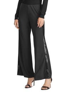 Lauren Ralph Lauren Sequin Stripe Wide-Leg Pants