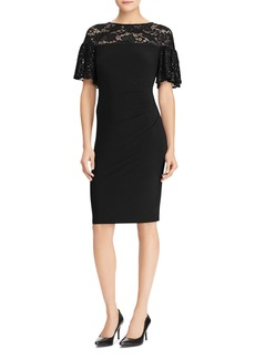 Lauren Ralph Lauren Sequin-Trim Jersey Dress