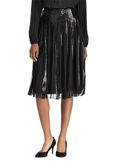 Lauren Ralph Lauren Sequin Tulle Pleated Skirt