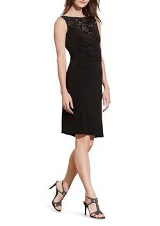 Lauren Ralph Lauren Sequin Yoke Dress