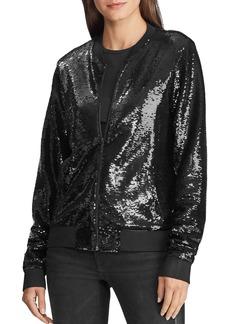 Lauren Ralph Lauren Sequined Bomber Jacket