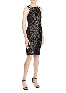 Lauren Ralph Lauren Sequined Crisscross-Strap Dress