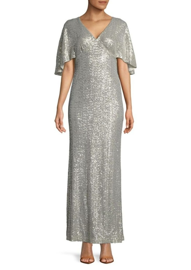 Ralph Lauren Lauren Ralph Lauren Sequined Overlay Floor-Length Gown ...