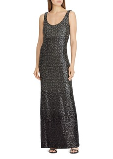 Lauren Ralph Lauren Sequined Sleeveless Gown