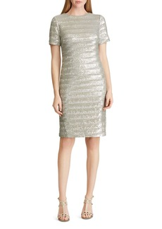 Lauren Ralph Lauren Sequined Stripe Dress