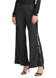 Lauren Ralph Lauren Sequined Tuxedo-Stripe Pants