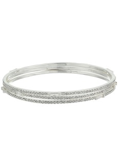 Ralph Lauren Set of 3 Bangles with Pave & Baguettes Bracelets