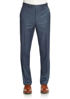 Lauren Ralph Lauren Sharkskin Ultraflex Classic-Fit Wool Suit Separate Pants