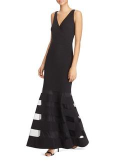 Lauren Ralph Lauren Sheer-Panel Gown