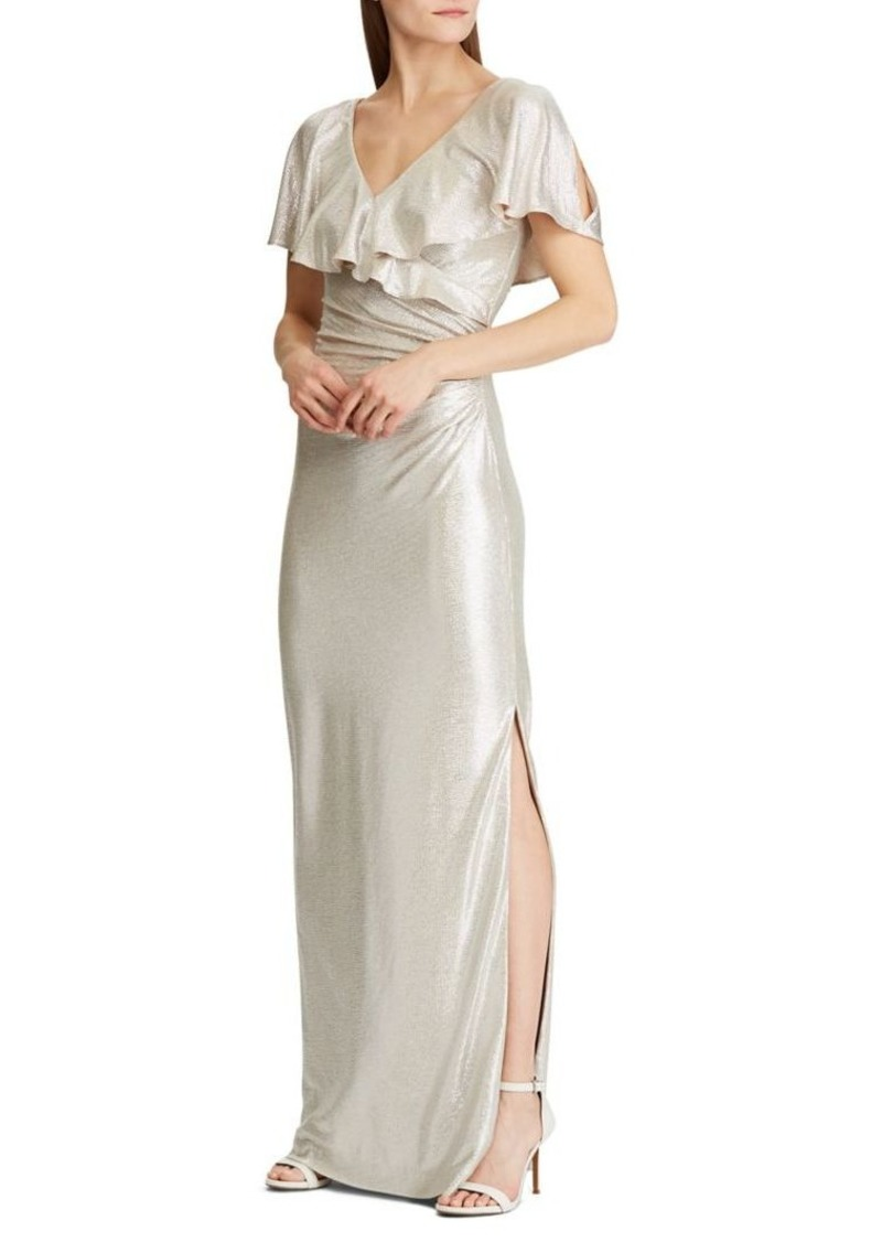 Lauren Ralph Lauren Shimmer Evening Gown