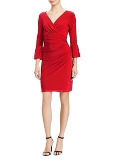 Lauren Ralph Lauren Shirred Bell-Sleeve Dress