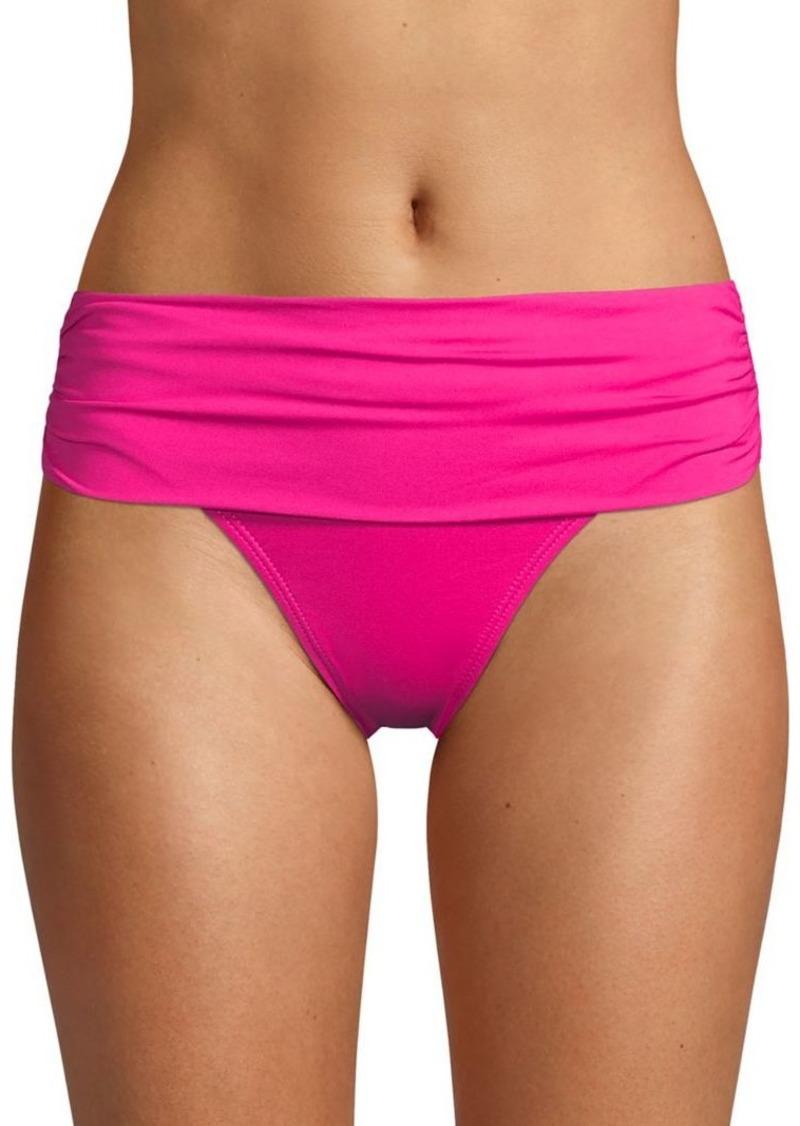 Lauren Ralph Lauren Shirred Hipster Bikini Bottom