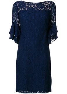 Lauren Ralph Lauren short lace dress - Blue