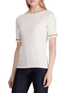 Lauren Ralph Lauren Short-Sleeve Boatneck Top