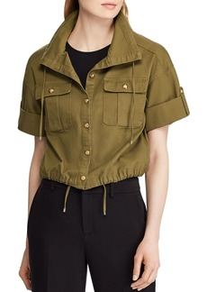 Lauren Ralph Lauren Short-Sleeve Cropped Jacket