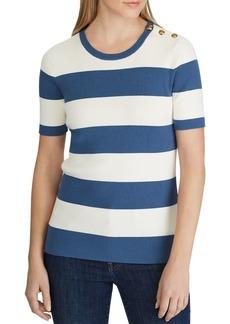 Lauren Ralph Lauren Short-Sleeve Striped Sweater