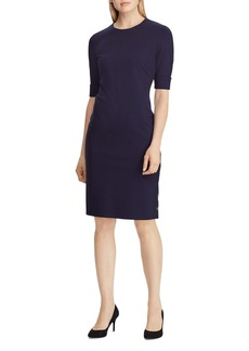 Lauren Ralph Lauren Side Snap Sheath Dress