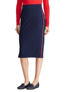 Lauren Ralph Lauren Side-Striped Straight Skirt