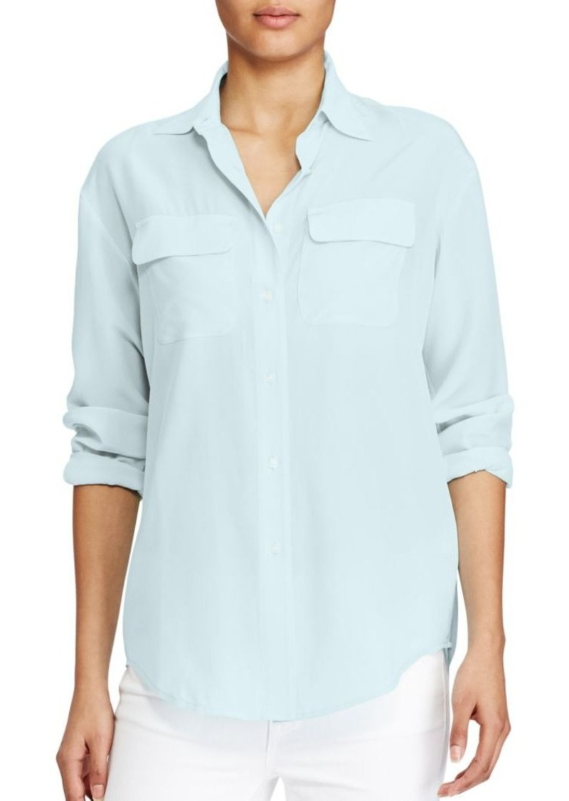 d4a5a820f Ralph Lauren Lauren Ralph Lauren Silk Crepe Button-Up Shirt Now $62.00