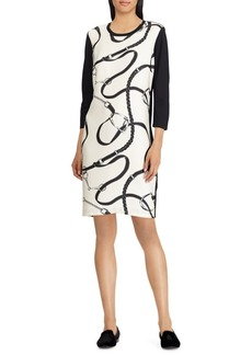 Lauren Ralph Lauren Silk-Printed Ponte Dress