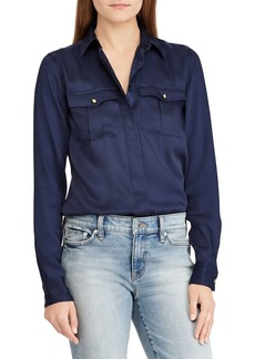 Lauren Ralph Lauren Silky Twill Reyhan Long Sleeve Shirt