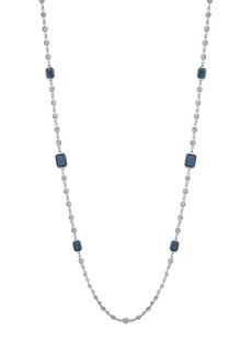 Lauren Ralph Lauren Silvertone Epoxy Necklace